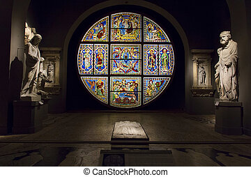 Siena - SIENA, ITALY, August 6, 2011: Cathedral interior, ...
