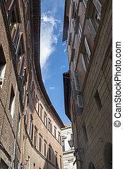 siena, italy:, dějinný stavení