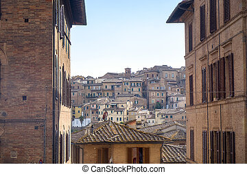 siena, italy:, edifícios históricos