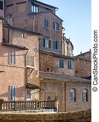 siena, italy:, historische gebouwen