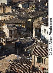Siena, Italy rooftops.