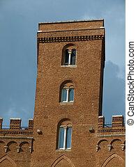Siena - Palazzo Sansedoni tower at Piazza Del Campo