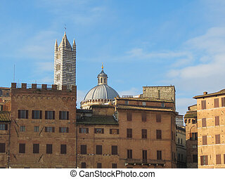 Siena, Italian medieval town - Piazza del Campo