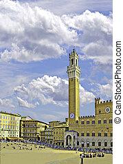 Siena Piazzo del Campo - Piazza del Campo with Torre del...