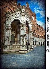 Siena - Chapel of the Piazza del Campo, Siena, Tuscany,...