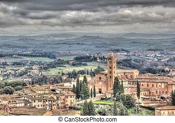 Siena - a view of Siena,Italy