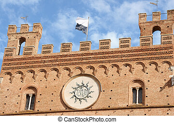 Siena Town Hall (Palazzo Comunale) detail