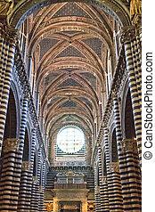Siena, Tuscany - Interior of dome (Duomo di Siena), Italy