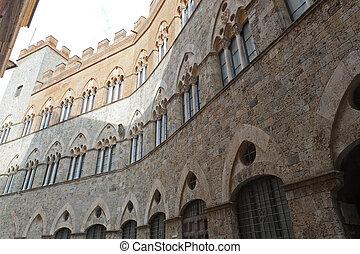 siena, (tuscany, italy), -, 歴史的, 宮殿
