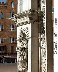 Siena - wonderfully decorated Capella di Piazza at Palazzo ...