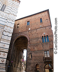 Sienna-Italy - Gate near Baptistery of St.John in Sienna