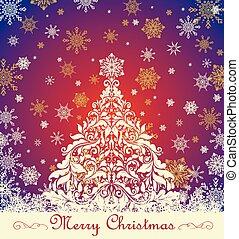 sierlijk, kerstmis, groet