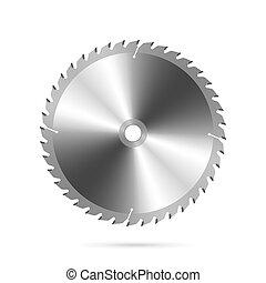 sierra, circular, hoja