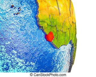 sierra, kaart, 3d, leone, aarde