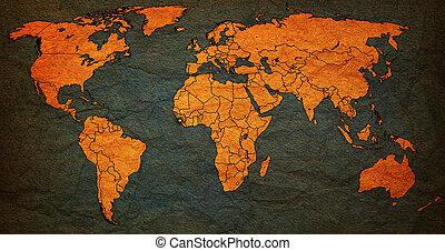 sierra, kaart, gebied, leone, wereld