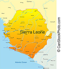 Sierra Leone country - Abstract vector color map of Sierra...