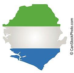 Sierra Leone Flag - Flag of the Republic of Sierra Leone...