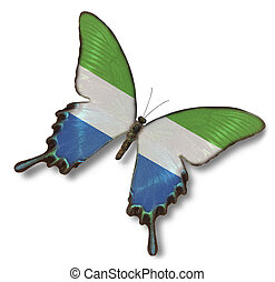 Sierra Leone flag on butterfly