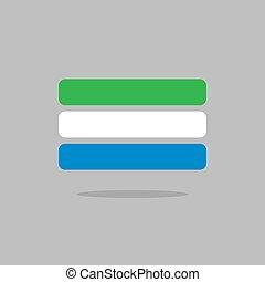 Sierra Leone flag state symbol stylized geometric elements