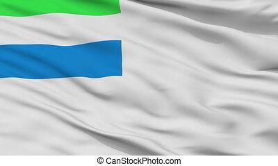 Sierra Leone Naval Ensign Flag Closeup Seamless Loop - Naval...