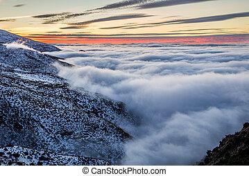 sierra, montagne, nevada, espagne
