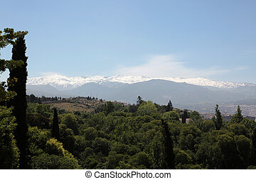 sierra, montanhas, nevada