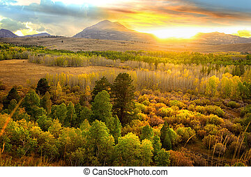 Sierra Nevada mountains - Black mountain landscape in Sierra...