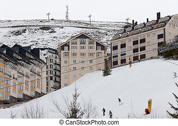 sierra, recurso, nevada, esqui, espanha