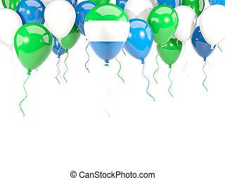sierra, vlag, ballons, leone