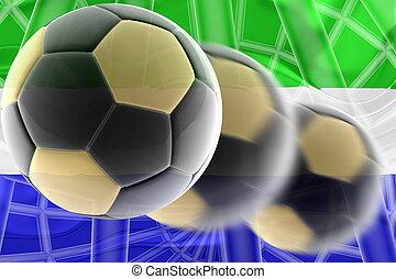 sierra, voetbal, vlag, golvend, leone