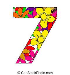 siete, número