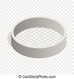 Sieve isometric icon