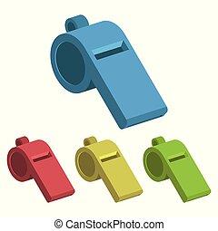siffler, vecteur, conception, illustration