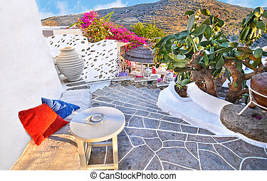 Sifnos castle Cyclades Greece