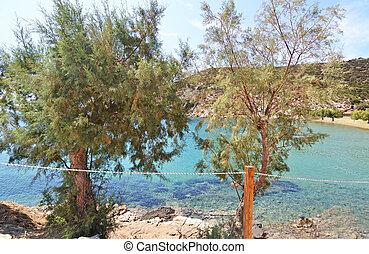 sifnos, faros, isla, playa, grecia