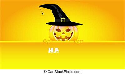sig, heureux, tenue, halloween, citrouille