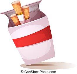 sigaret, illustration., lifestyle., ongezonde , spotprent