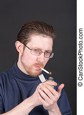 sigaret, man