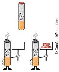 sigaretta, 3, set, -, collezione