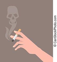 sigaretta, mano
