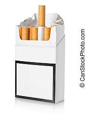 sigarette, isolato, pacco