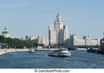 Sight at the river Moskva