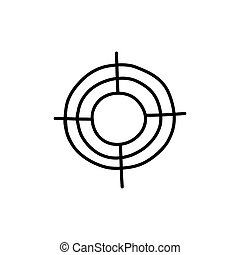 sight for shooting doodle icon, vector illustration