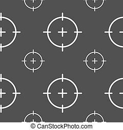sight icon sign. Seamless pattern on a gray background. Vector