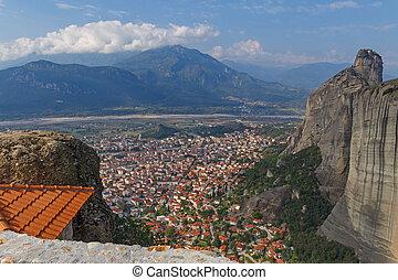 Kalabaka town in Meteora