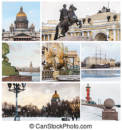 sights of St. Petersburg in winter. Russia