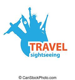 sightseeing - Sign - travel sightseeing, Vector idea