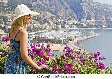 sightseeing, em, mediterrâneo