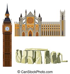 Sightseeing of Great Britain Westminster Abbey, Big Ben,...