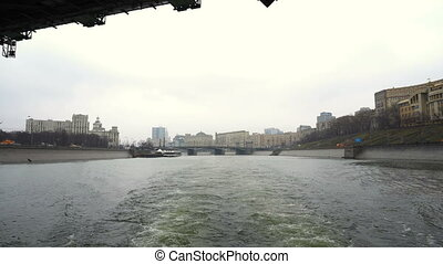 Sightseeing tour on the Moscow river